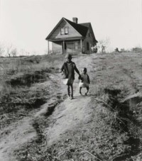 Tenant Farmer's Children, One with Ricketts, Wadesboro, North Carolina, 1938
