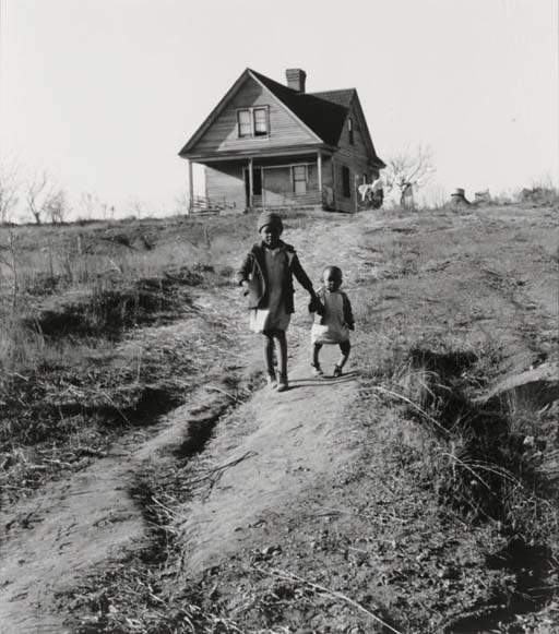 Tenant Farmer's Children, One with Ricketts, Wadesboro, North Carolina, 1938