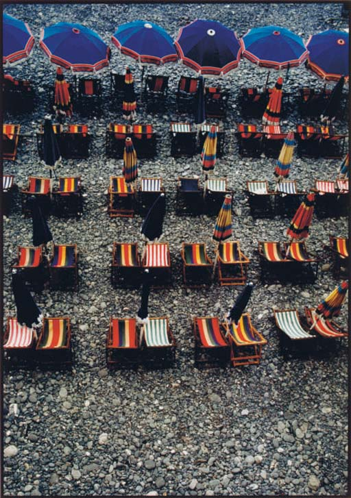 Deck Chairs, Camogli, Italy, 1981 and Candles, Voltera, Italy, 1981