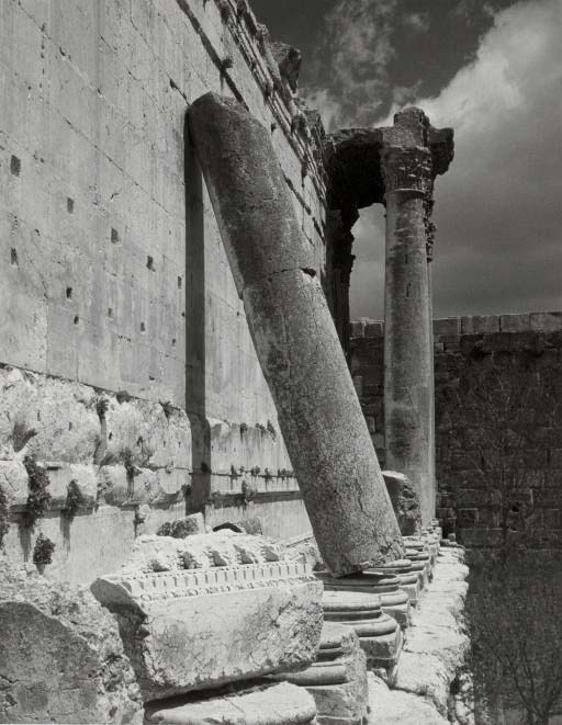 Valley Temple of Chephren (Khaf-Re), Giza, c. 1939; Untitled (Temple Baalbek), c. 1945; Untitled (Relief and Vista, Palmyra), c. 1945
