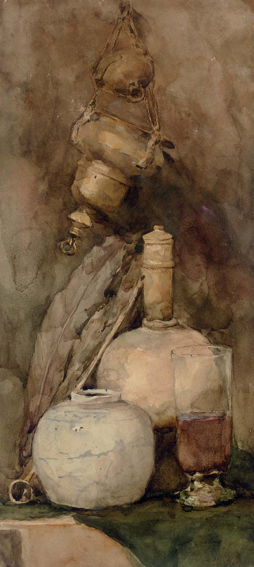 Still Life with Quill and Ginger Jar