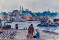 Fishermen on the Dock, East Gloucester