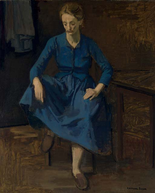 Woman in a Blue Dress