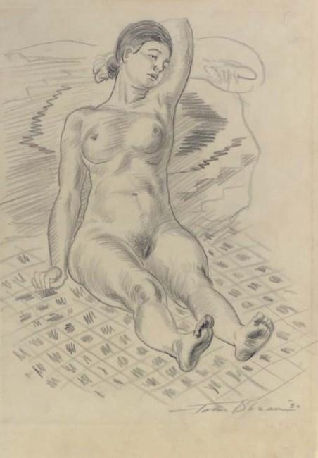 Sold Price: JOHN SLOAN Nude Standing on Stairway, 1933