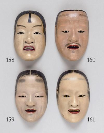 A Noh Mask of Deigan (Gold-Pai