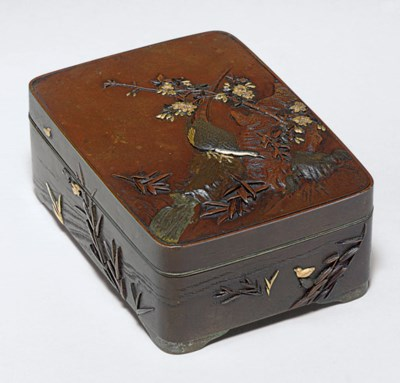 A Bronze and Mixed-Metal Box a