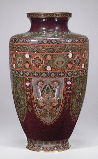 A Large Cloissoné Enamel Vase