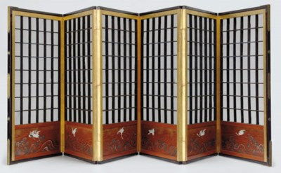 A Small Six-Panel Screen for t