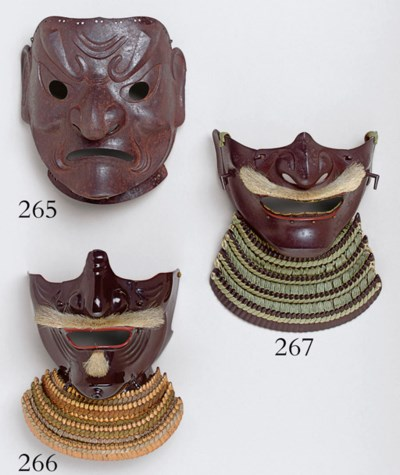 A Lacquered-Iron Face Mask (Me