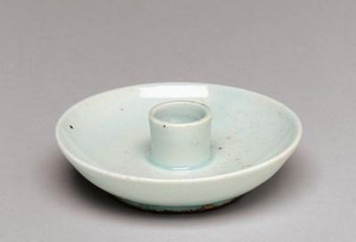 A Porcelain Candleholder