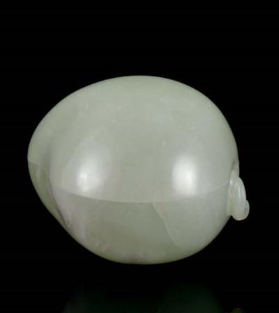 A PALE GREENISH-WHITE JADE PEA