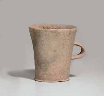 A THINLY POTTED GREY POTTERY C