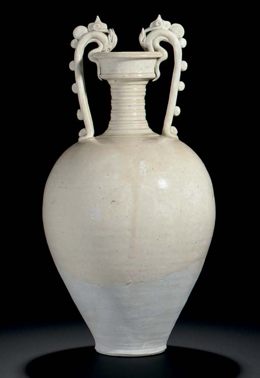 A LARGE STRAW-GLAZED STONEWARE
