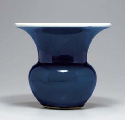 AN UNUSUAL LARGE BLUE-GLAZED Z