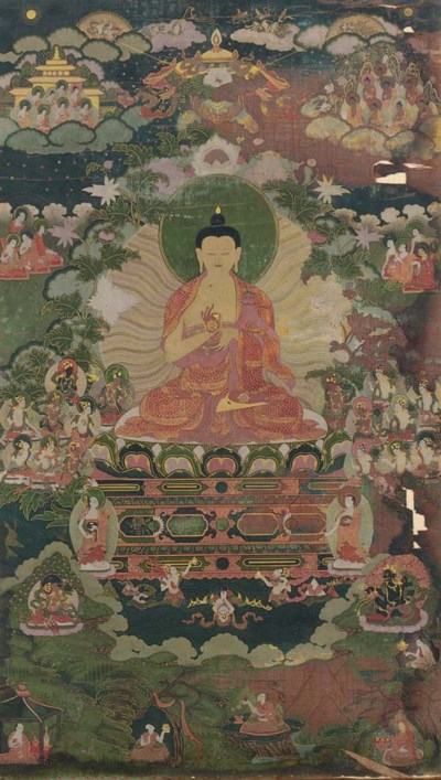 A thangka of Buddha