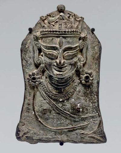 A brass mohra of Durga