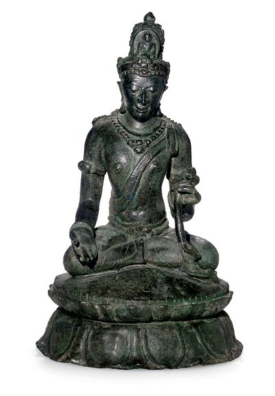 A large bronze figure of Padma