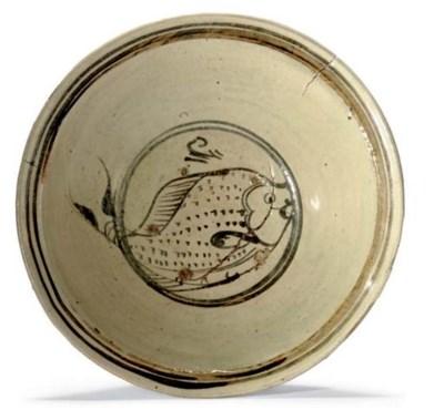 A ceramic bowl with iron-glaze
