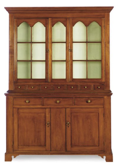 AN AMERICAN CHIPPENDALE WALNUT