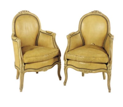 A PAIR OF FRENCH BEECHWOOD LEA