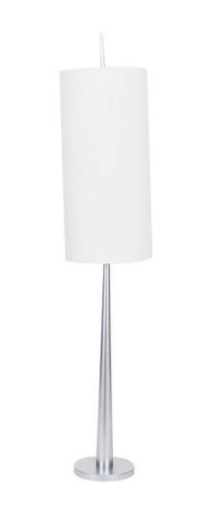A CHROME FOUR-LIGHT FLOOR LAMP