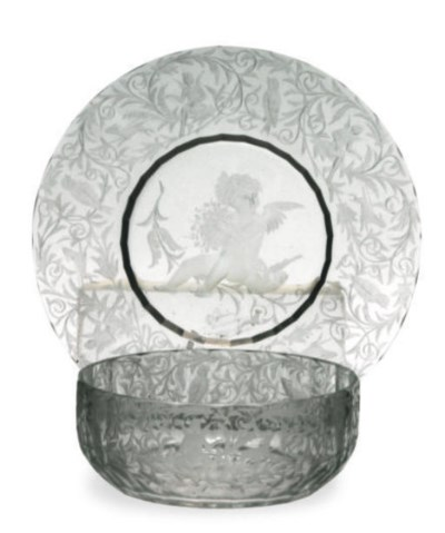 A GROUP OF GLASS STEMWARE AND