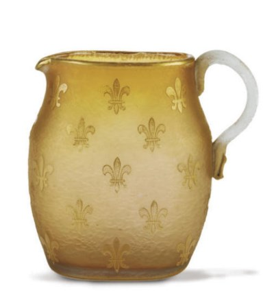 A FRENCH GILT CAMEO GLASS EWER