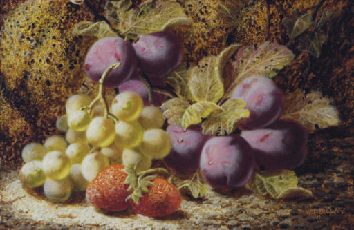 Still life of fruits; and a companion painting