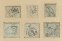 Six studies of hands