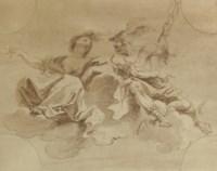 Venus and Mercury, a design for a ceiling