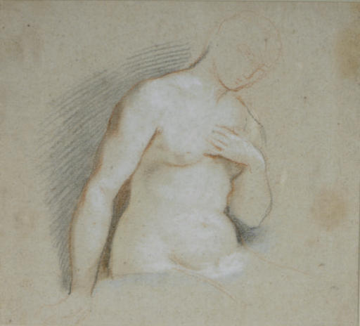 Study of a female nude, half-length