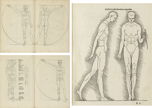 DÜRER, Albrecht (1471-1528). Hierinn sind begriffen vier bücher von menschlicher Proportion. Edited by Willibald Pirckheimer. Nuremberg: Hieronymus Andreae Formschneider for Dürer's widow, 31 October 1528.
