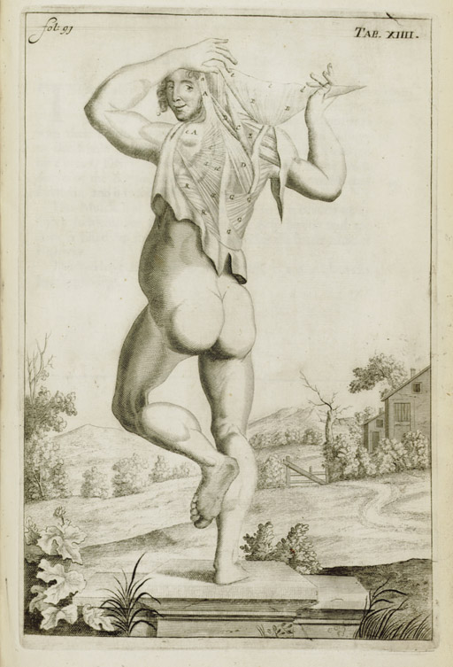 BROWNE, John (1642-1700). A Compleat Treatise of the Muscles, As they appear in Humane Body, And arise in Dissection; With Diverse Anatomical Observations Not yet Discovered. [London:] In the Savoy, Printed by Thomas Newcombe, 1681.