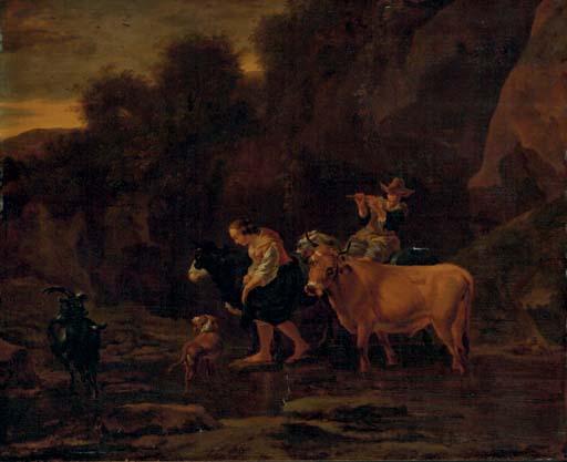 Attributed to Nicholaes Berchem Haarlem 1620-1683 Amsterdam