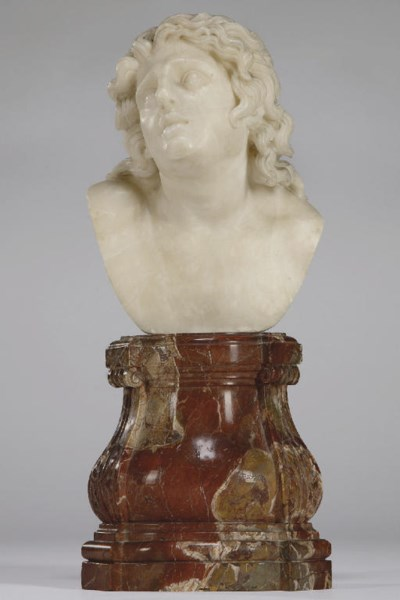 AN ALABASTER HEAD OF THE DYING