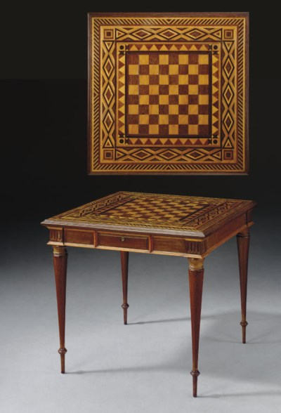 A COLONIAL PARQUETRY GAMES TAB