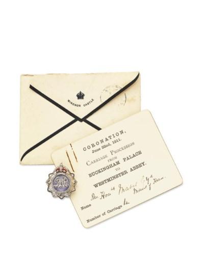 A DIAMOND AND ENAMEL ROYAL PRE