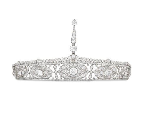 AN EXCEPTIONAL BELLE EPOQUE DIAMOND AIGRETTE BANDEAU, BY CARTIER