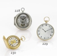 BEAUVAIS. A SILVER PAIR-CASED VERGE POCKET WATCH WITH DATE AND MOCK PENDULUM