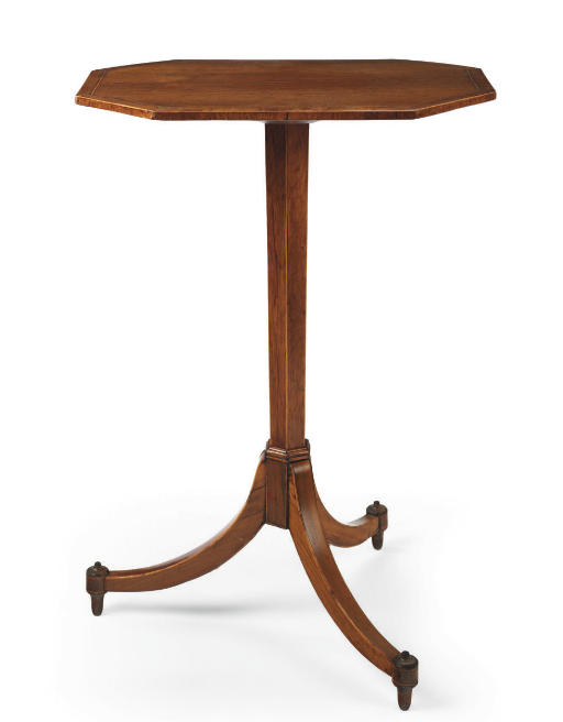 A LATE GEORGE III ROSEWOOD TRIPOD TABLE**