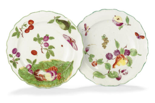 TWO CHELSEA SHAPED CIRCULAR PLATES