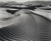 Dunes and Mountains, White Sands, 1945
