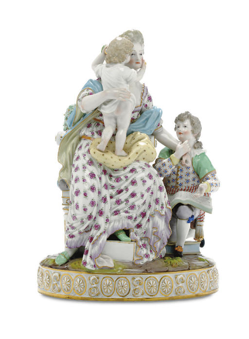 A MEISSEN FIGURE GROUP, 'LOVE