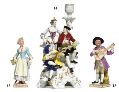 TWO MEISSEN COMMEDIA DELL'ARTE