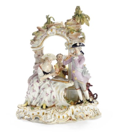 A MEISSEN ARBOUR GROUP OF MUSI