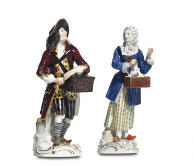 TWO MEISSEN FIGURES FROM THE '
