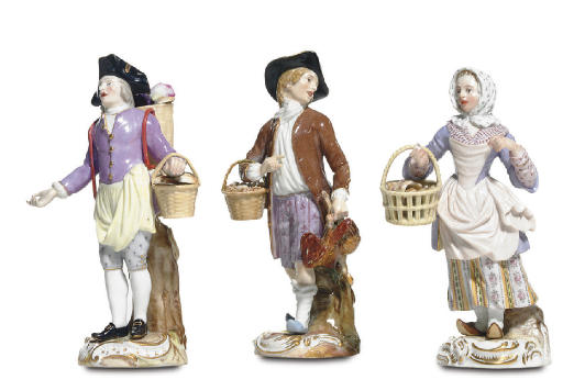 THREE MEISSEN FIGURES FROM THE