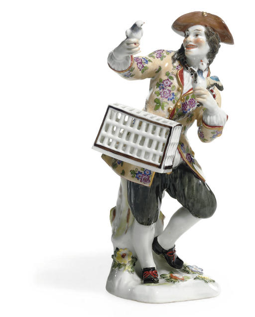 A MEISSEN FIGURE OF A BIRD SEL