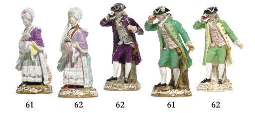 TWO MEISSEN FIGURES OF GALLANT