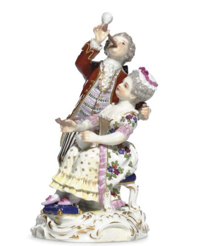A MEISSEN FIGURE GROUP OF BUBB